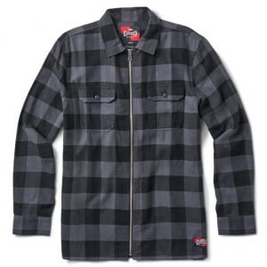 VANS / VANS X INDEPENDENT ZIP FLANNEL SHIRT (ASPHALT)