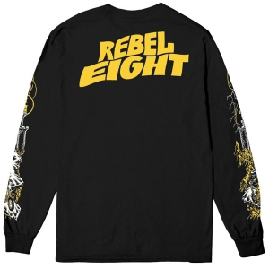 REBEL8 / INTO THE VOID L/S TEE (BLACK)