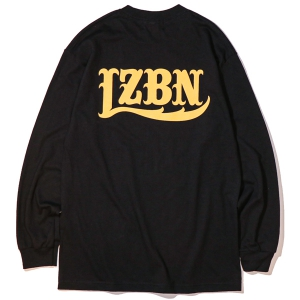 LZBN / LZBN BACK LOGO L/S TEE (BLACK/YELLOW)