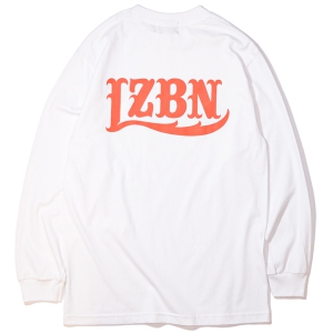LZBN / LZBN BACK LOGO L/S TEE (WHITE/ORANGE)