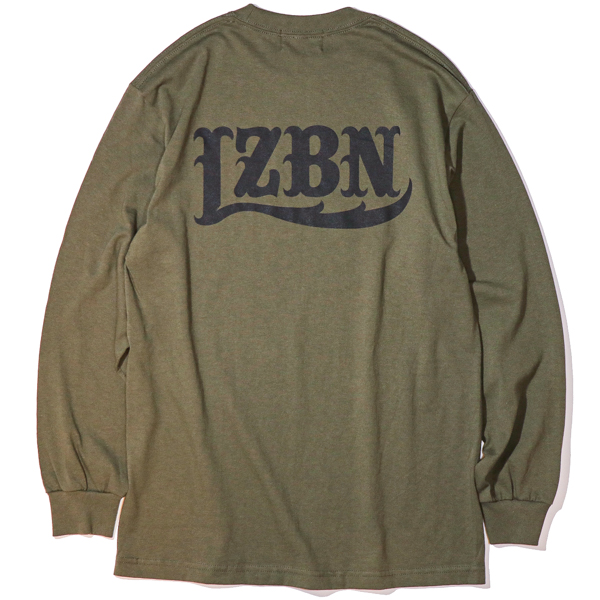 LZBN / LZBN BACK LOGO L/S TEE (MILITARY GREEN)