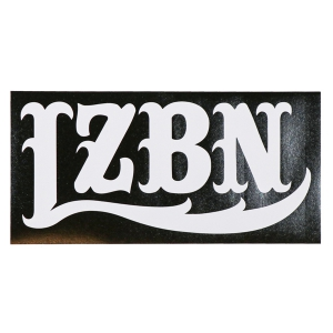 LZBN / LZBN LOGO DIE CUT STICKER L (WHITE)