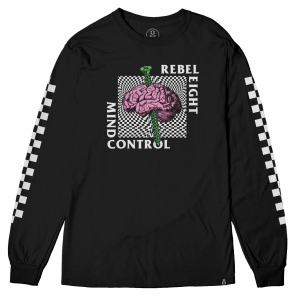 REBEL8 / MIND CONTROL L/S TEE (BLACK)