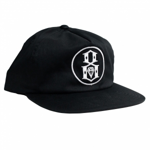 REBEL8 / DEFEATER SNAPBACK CAP (BLACK)