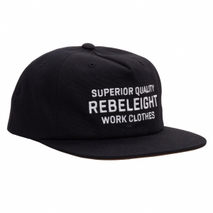 REBEL8 / OUTLASTING SNAPBACK CAP (BLACK)