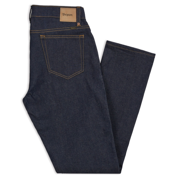 BRIXTON / RESERVE 5-POCKET DENIM PANT (RAW INDIGO)