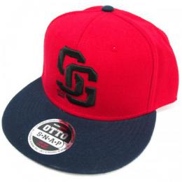 SILLY GOOD / MAJOR LEAGER SNAPBACK CAP (NAVY/RED)