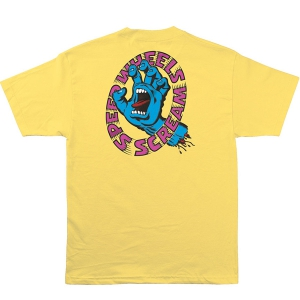SANTA CRUZ / SCREAMING HAND SCREAM TEE (BANANA)