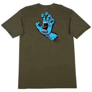 SANTA CRUZ / SCREAMING HAND TEE (MILITARY GREEN)