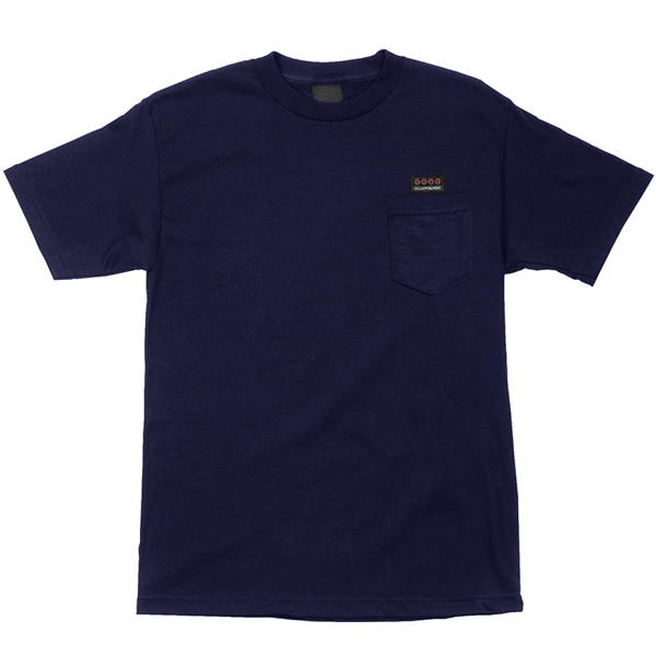 INDEPENDENT / WOVEN LABEL POCKET TEE (NAVY)