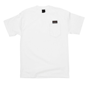 INDEPENDENT / WOVEN LABEL POCKET TEE (WHITE)