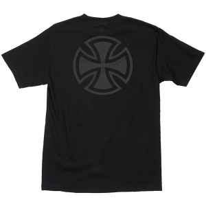 INDEPENDENT / BAR/CROSS FADE OUT TEE (BLACK)