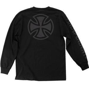 INDEPENDENT / BAR/CROSS FADE OUT L/S TEE (BLACK)