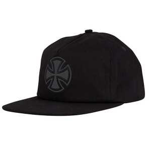 INDEPENDENT / BAR/CROSS FADE OUT SNAPBACK CAP (BLACK)