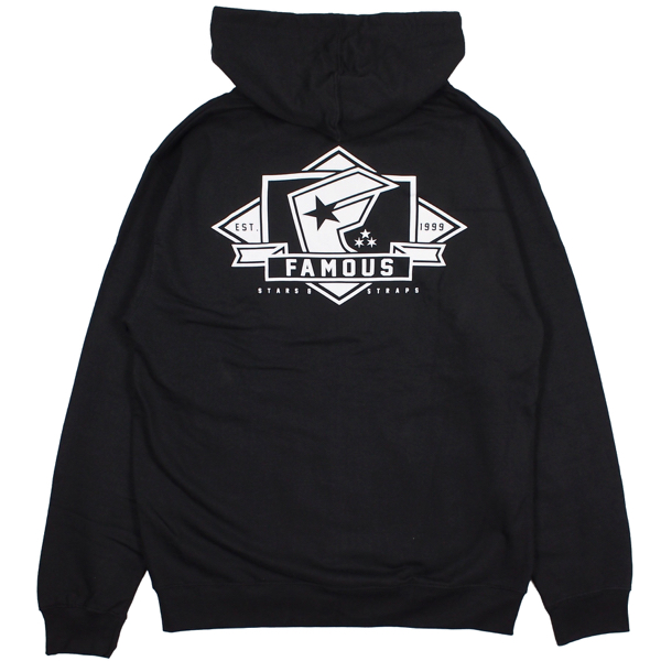FAMOUS STARS AND STRAPS / MAJOR ZIP HOODIE (BLACK)