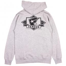FAMOUS STARS AND STRAPS / MAJOR ZIP HOODIE (H.GREY)