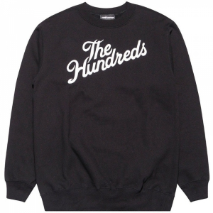THE HUNDREDS / FOREVER SLANT CREWNECK SWEAT (BLACK)