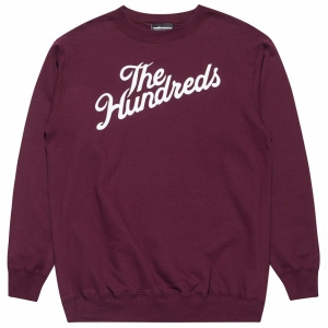 THE HUNDREDS / FOREVER SLANT CREWNECK SWEAT (BURGUNDY)