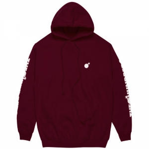 THE HUNDREDS / FOREVER SOLID BOMB CREST PULLOVER HOODIE (BURGUNDY)