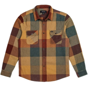 BRIXTON / BOWERY L/S FLANNEL SHIRT (RUST/COPPER)