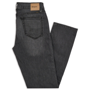 BRIXTON / RESERVE 5-POCKET DENIM PANT (WORN BLACK)
