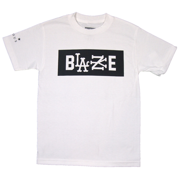 FAMOUS STARS AND STRAPS × ROCKSMITH / RS BLAZE TEE (WHITE)