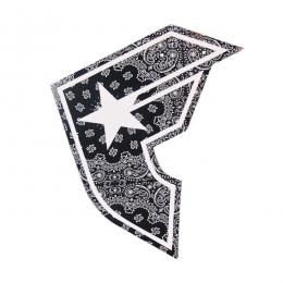 "FAMOUS STARS AND STRAPS / PAISLEY BOH STICKER (8"")"