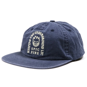 SPITFIRE / STEADY ROCKIN STRAPBACK CAP (WASHED NAVY)