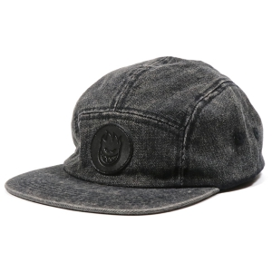 SPITFIRE / BIGHEAD CIRCLE PATCH CAMP CAP (WASHED BLACK)