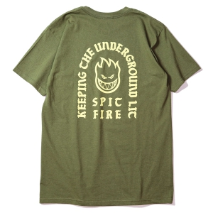 SPITFIRE / STEADY ROCKIN' TEE (MILITARY GREEN)