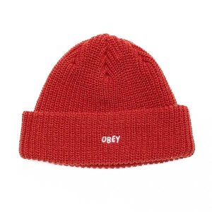 OBEY / JUMBLED BEANIE (BRICK RED)