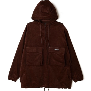 OBEY / SHINER ANORAK JACKET (BROWN)