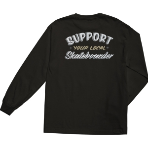 LOSER MACHINE / SUPPORT L/S TEE (BLACK)