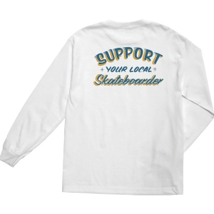 LOSER MACHINE / SUPPORT L/S TEE (WHITE)