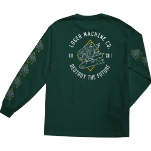 LOSER MACHINE / DIVE BOMBER L/S TEE (FOREST GREEN)