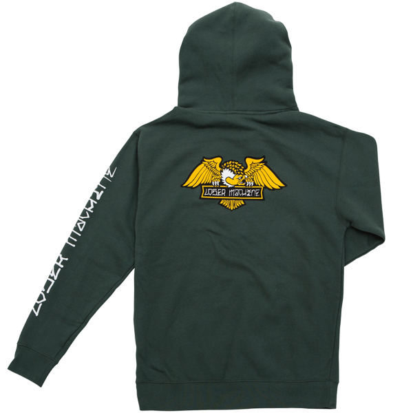 LOSER MACHINE / ALLEYWAY PULLOVER HOODIE (FOREST GREEN)