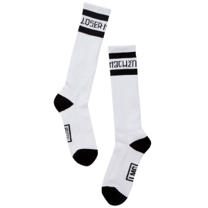 LOSER MACHINE / SIERRA SOCKS (WHITE)
