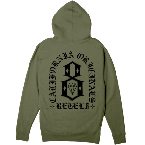 REBEL8 / FORTITUDE PULLOVER HOODIE (MILITARY)