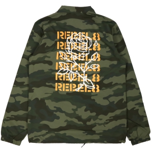 REBEL8 / FUCKED UP COACHES JACKET (CAMO)