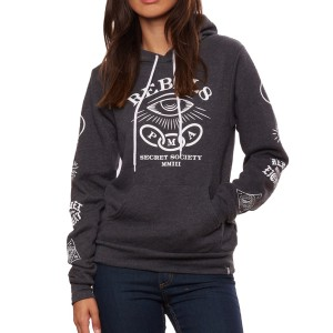 REBEL8 / FORETOLD PULLOVER HOODIE (CHARCOAL HEATHER)