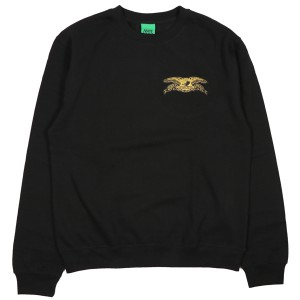 ANTIHERO / STOCK EAGLE PATCH CREWNECK SWEAT (BLACK)
