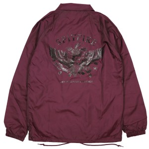 SPIT FIRE / DISHONOR COACHES JACKET (MAROON)