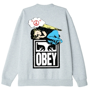 OBEY / ANGEL CREWNECK SWEAT (HEATHER ASH)