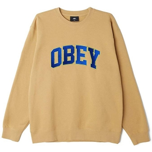 OBEY / OBEY SPORTS II CREWNECK SWEAT (ALMOND)