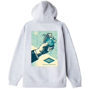 OBEY / OBEY ROYAL TREATMENT PULLOVER HOODIE (ASH GREY)
