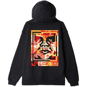 OBEY / OBEY 3 FACE COLLAGE PULLOVER HOODIE (BLACK)