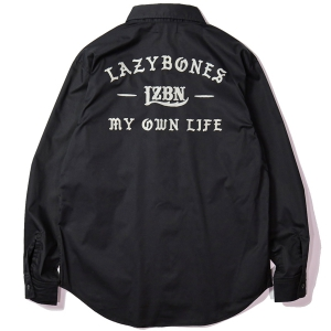 LZBN / ANCIENT L/S WORK SHIRT (BLACK)