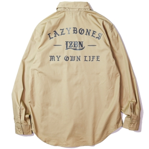LZBN / ANCIENT L/S WORK SHIRT (BEIGE)