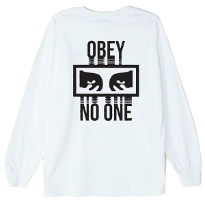 OBEY / NO ONE BASIC L/S TEE (WHITE)