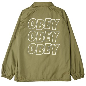 OBEY / OBEY JUMBLE LO-FI COACHES JACKET (ARMY)
